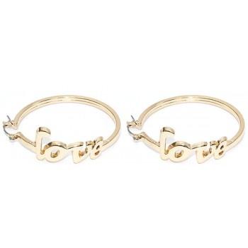 Oorbellen - Love - 4,5 cm - ringen