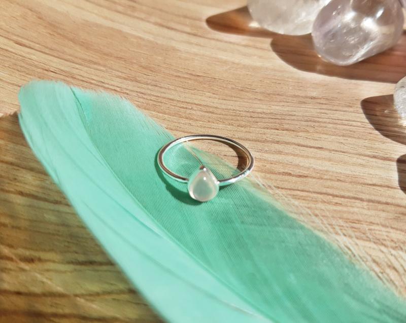 Ring - Traan - Maat 6 - Zilver