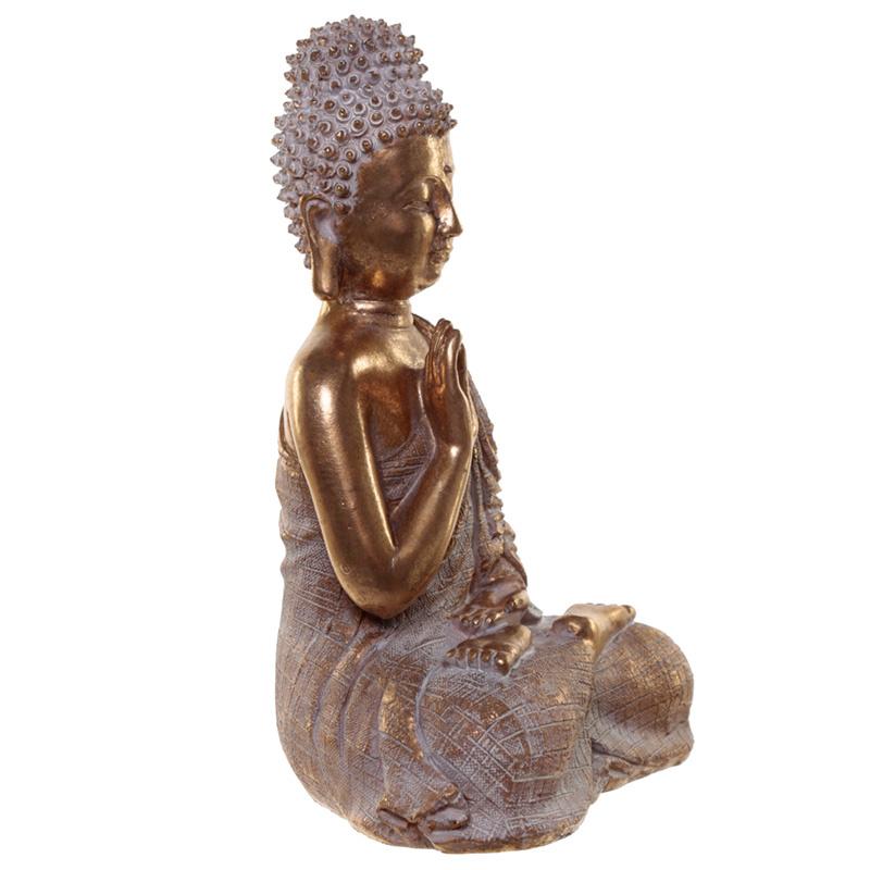 Thaise Boeddha - Sereniteit - 23cm - goud - wit
