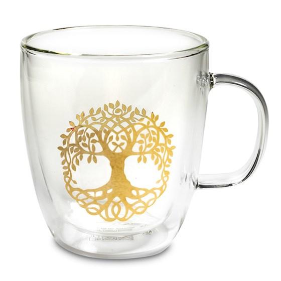 Dubbelwandig Theeglas - Tree of life - Levensboom