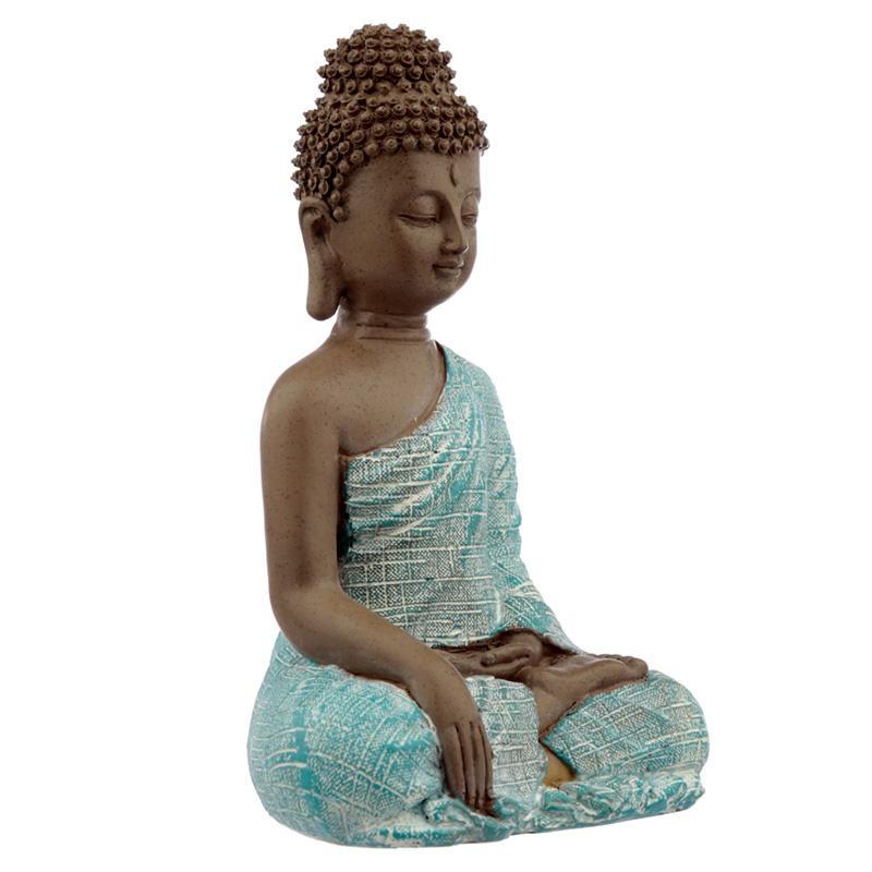 Beeld - Thaise Boeddha - Vrede - Turkoois - 21cm
