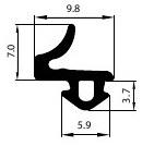Veka 112.072 Zwart volle doos (400 M)