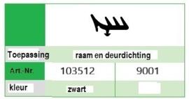 Kommerling 9001 Zwart rol (100 M)