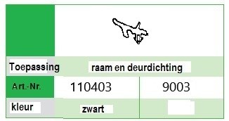 Kommerling 9003 Zwart rol  (50 M)