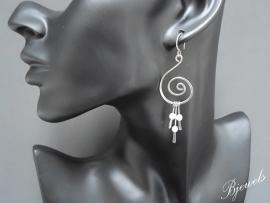 """Dames oorbellen """"swirl amazoniet"""""""