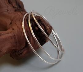 Zilveren bangles handgemaakt