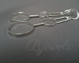 """Handgemaakte zilveren oorbellen """"trapeze"""""""