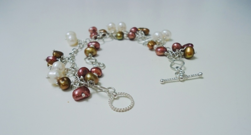"Armband ""Bronze pearl"""