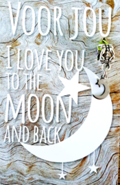 I LOVE YOU TO TE MOON AND BACK