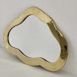 Messing spiegel 'Wolk'