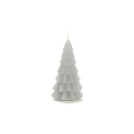 Kerstboom kaars klein 'Koelgrijs'