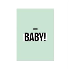 Kaart 'Oh baby boy'
