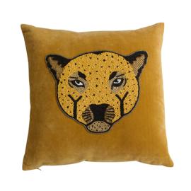 Velvet kussen 'Leopard'