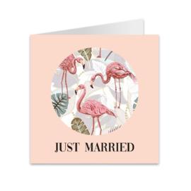 Wenskaart jungle 'Just married'