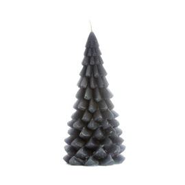 Kerstboom kaars groot 'Antraciet'