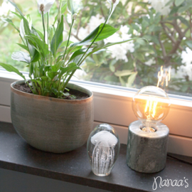 Tafellamp marmer wit