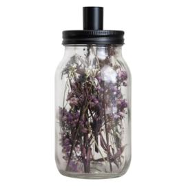 Kandelaar droogbloemen groot paars