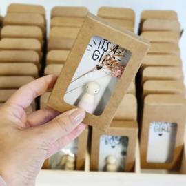 Cadeaudoosje houten poppetje 'Magic'