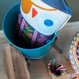 Opbergkrukje 'Bucket' blauw