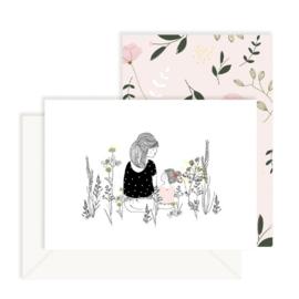 Set kaarten 'Girlsmom' (2 st.)