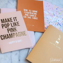 Set kaarten 'Champagne' (4 st.)