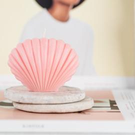 Soja kaars 'Shell' roze