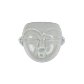 Wand bloempot 'Mask round' grijsblauw
