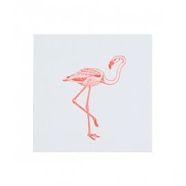 Letterpers kaart 'Flamingo'