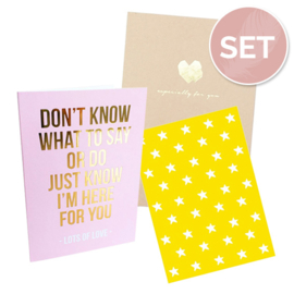 Set kaarten 'For you' (3 st.)