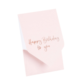 Pocketfold kaart 'Happy Birthday to you'
