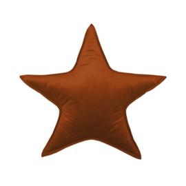 Kussen 'Ster' velours copper