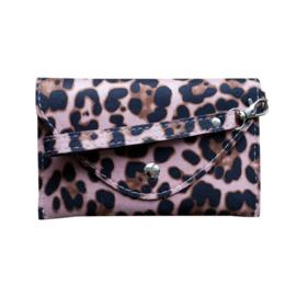 Tasje luipaard roze