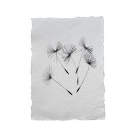 Kaart 'Paardenbloem' katoenpapier
