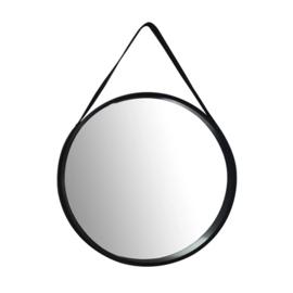 Strap spiegel rond zwart