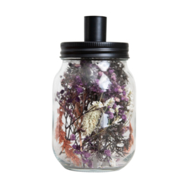 Kandelaar droogbloemen multicolor klein