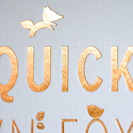 Set A4 poster met frame 'The quick brown fox'