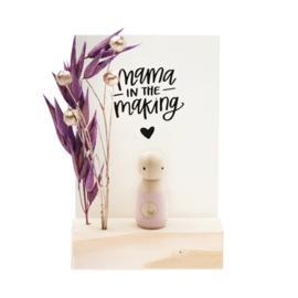 Cadeaudoosje houten poppetje 'Mama in the making'