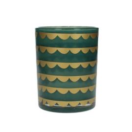 Waxinelichthouder groen/goud