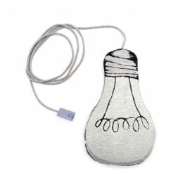 Kussen Le Petit M glow in the dark lightbulb