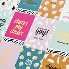 Set kaarten 'Confetti baby' (3 st.)