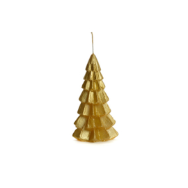Kerstboom kaars klein 'Goud'