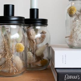 Kandelaar droogbloemen