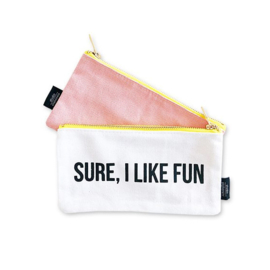 Canvas bag 'Sure I like fun'