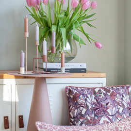 Kussen 'Leopard' roze