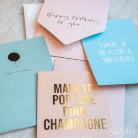Set kaarten 'Birthday' (4 st.)