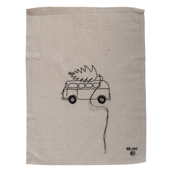 Stitched art 'Driving home'