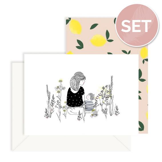 Set kaarten 'Boysmom' (2 st.)