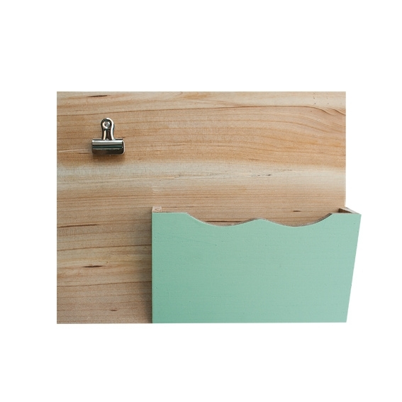 Wandorganizer pastel hout