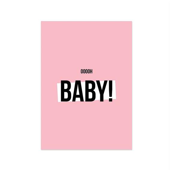 Kaart 'Oh baby girl'