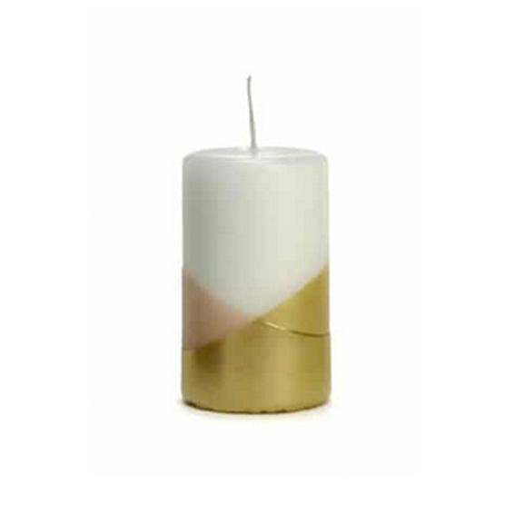 Kaars Cross dip goud / roze